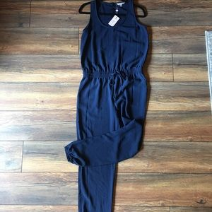 Cabi French Navy Jumpsuit size small; NWT